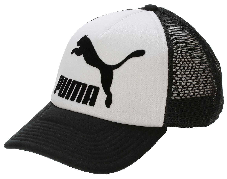 kšiltovka Puma Hudson Trucker - White Black - Snowboard shop ... 727c6a8ed7