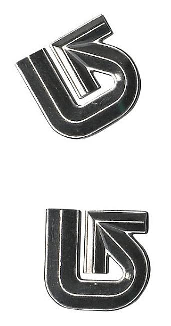 grip Burton Aluminium Logo Mats - Silver one size