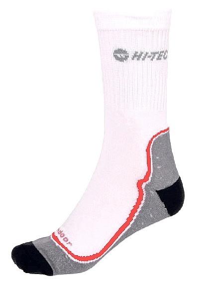 ponožky Hi-Tec Gimbo - White/Gray/Red/Black 36-39