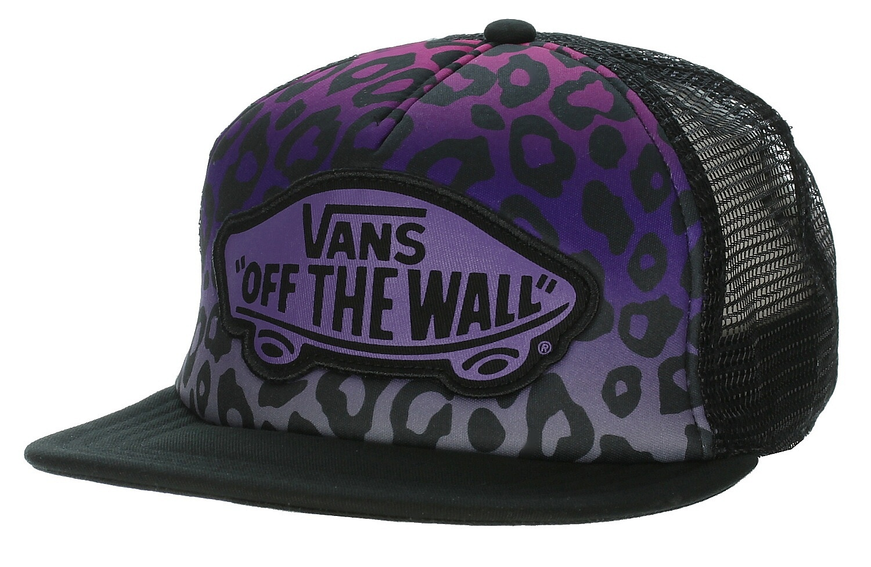 9615603c139 cap Vans Printed Beach Girl Trucker - Cheetah Zebra Fuchsia Purple Gray -  Snowboard shop