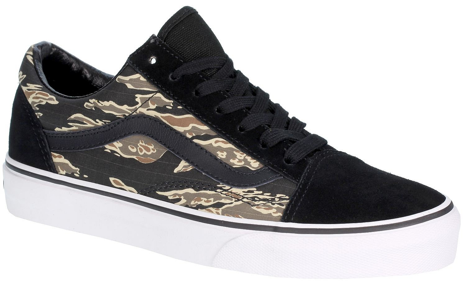 bf85888979 Vans Old Skool Shoes - Suede Tiger Camo Black - Snowboard shop ...