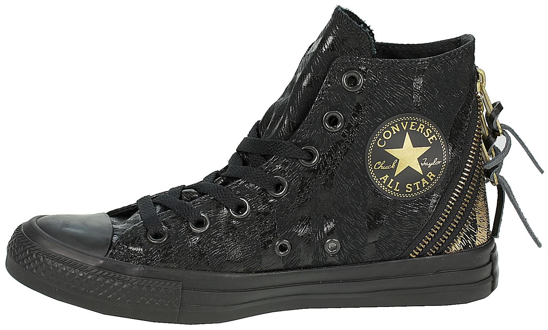 dfec6e9e7f7b Boty Converse Chuck Taylor All Star Tri Zip Hi - 544859 Black Gold    Předchozí Další
