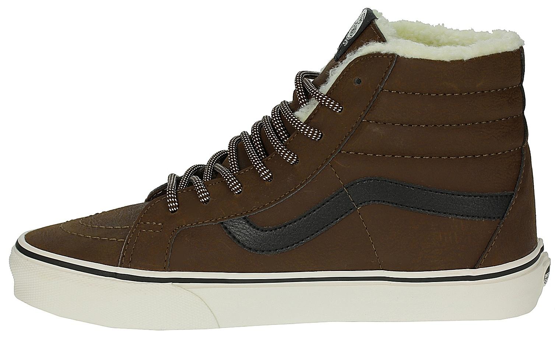 85cc9f4614 shoes Vans Sk8-Hi Reissue - Leather Fleece Brown Marshmallow ...