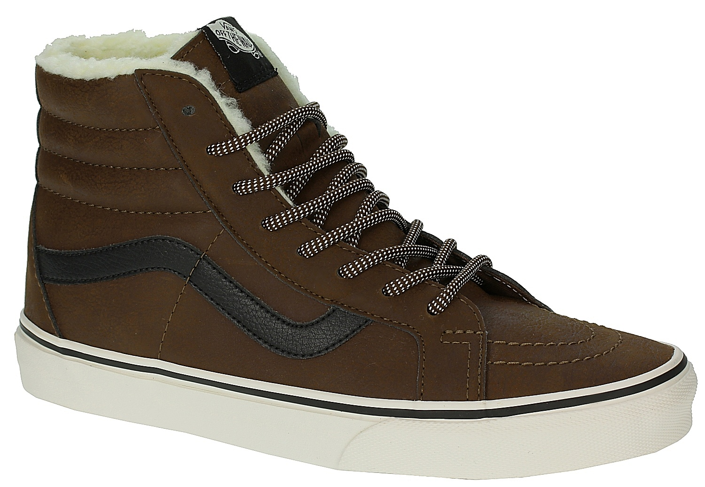 841252a58f shoes Vans Sk8-Hi Reissue - Leather Fleece Brown Marshmallow - Snowboard  shop