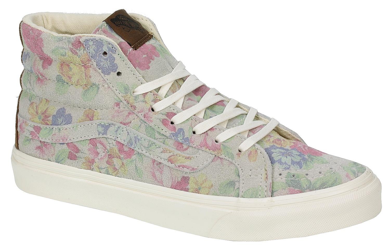 8c384e298d Vans Sk8-Hi Slim Shoes - Suede Floral Marshmallow - Snowboard shop ...