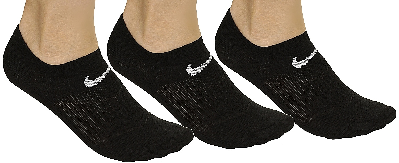 ponožky Nike Lightweight No Show 3 Pack - 001 Black White - Snowboard shop 19755d4839
