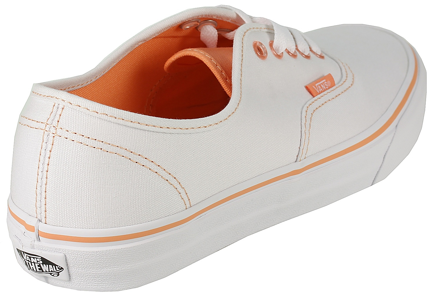 339f429c0ba7 ... Vans Authentic Shoes - Clear Eyelets True White Canteloupe ...