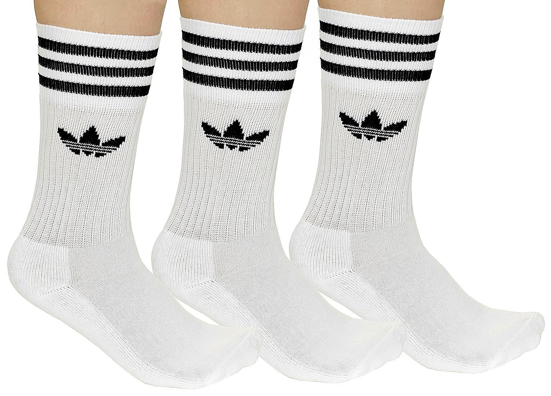 ba7d09112ad ponožky adidas Originals Solid Crew Sock 3 Pack - White Black - Snowboard  shop
