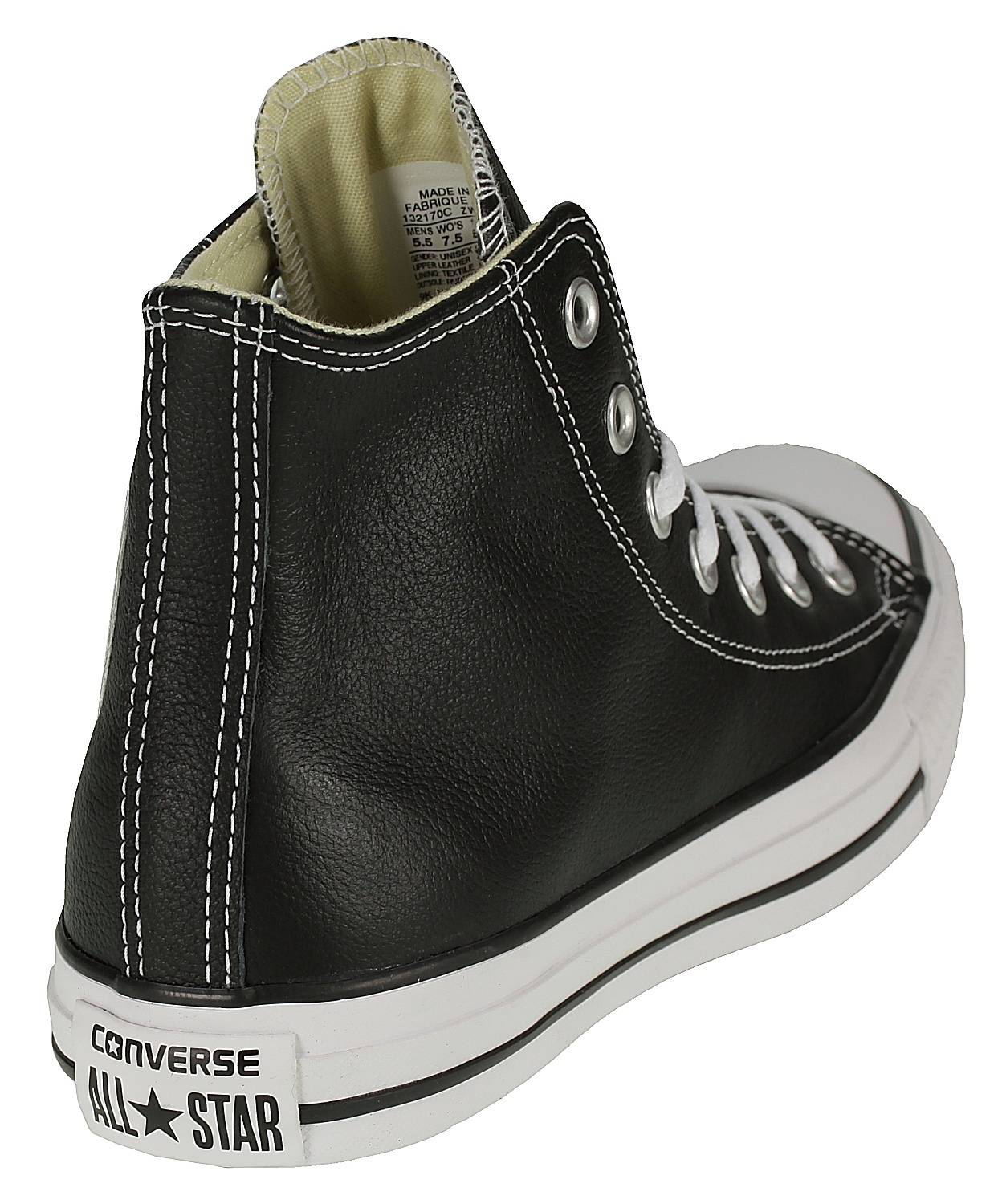 76017698a49 ... boty Converse Chuck Taylor All Star Leather Hi - 132170 Black ...