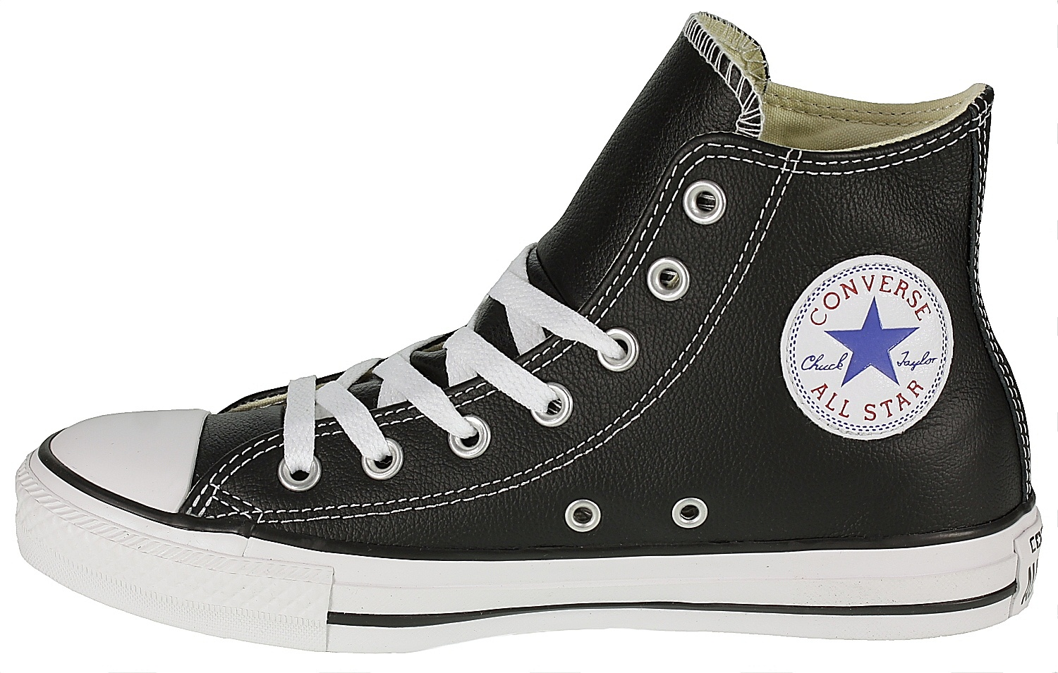 d97fbf0232d boty Converse Chuck Taylor All Star Leather Hi - 132170 Black ...