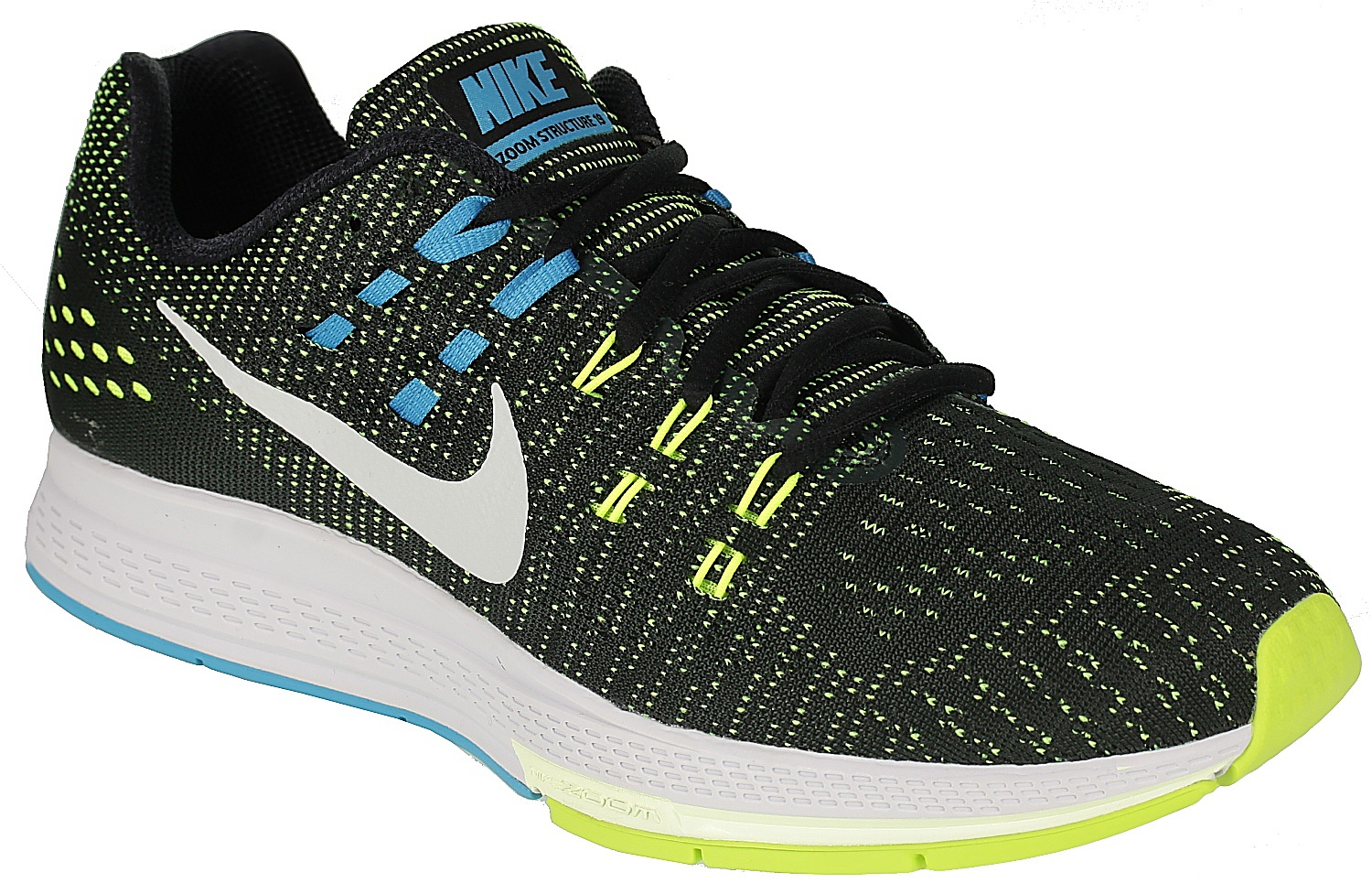 cheaper 8388c 69b5b boty Nike Air Zoom Structure 19 - Black/Pure Platinum/Volt ...