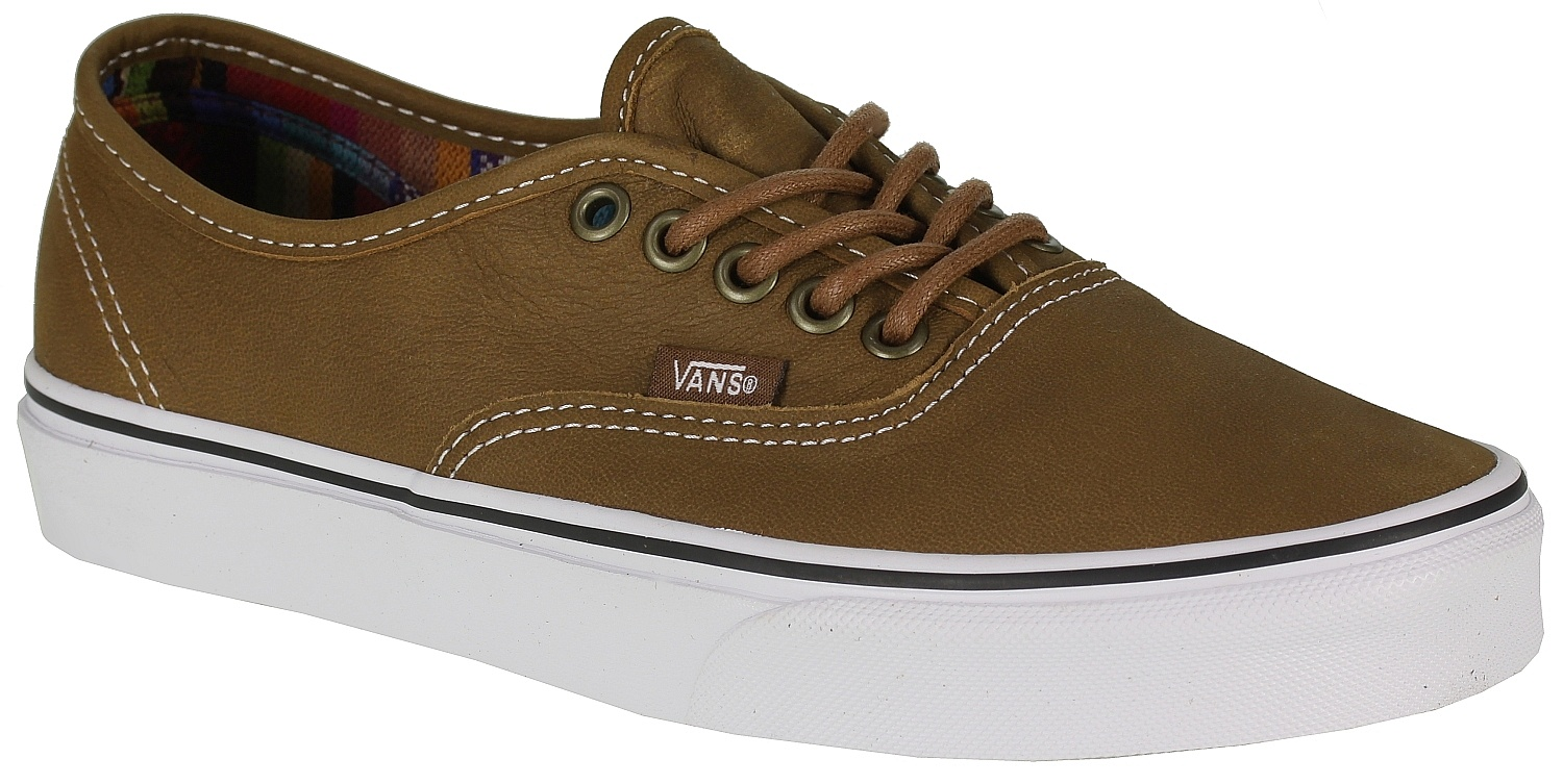 95bdfb61325689 shoes Vans Authentic - Leather Brown Guate - Snowboard shop ...