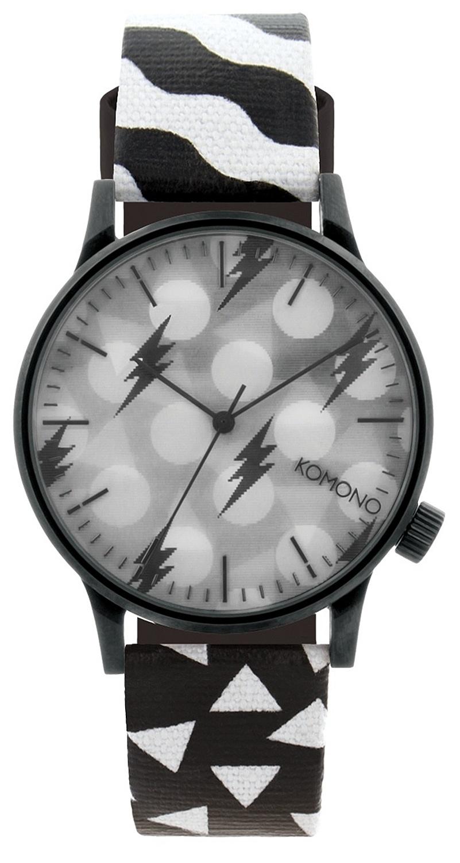 a93d10d3c hodinky Komono Winston & Happy Socks - Black/White one size
