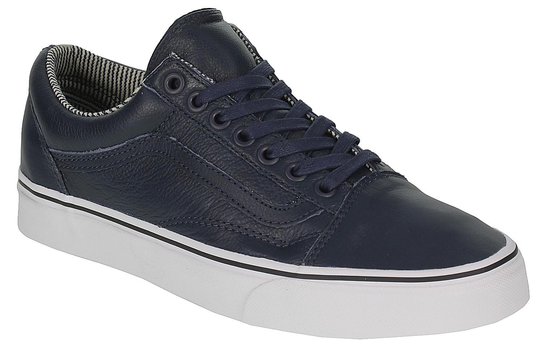 shoes Vans Old Skool - Leather Dress Blues Stripes - Snowboard shop ... cb4391adb