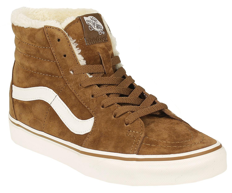 ec6625d6a74e shoes Vans Sk8-Hi - Pig Suede Fleece Monk s Robe Blanc - Snowboard ...