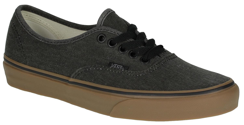 98aa6bf2c4 shoes Vans Authentic - Washed Canvas Black Gum - Snowboard shop ...