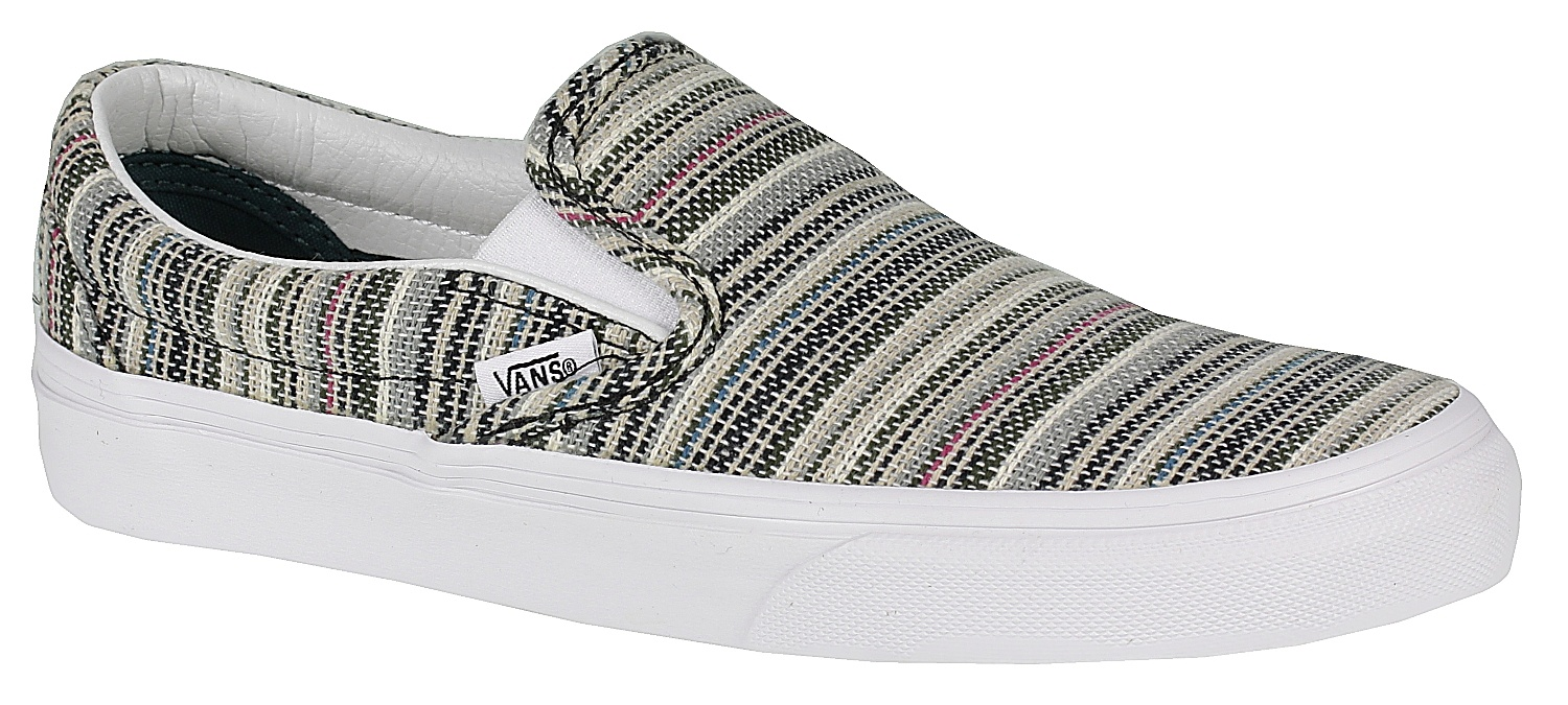 3e82c67b9e2e boty Vans Classic Slip-On - Textile Stripes Balsam True White - Snowboard  shop