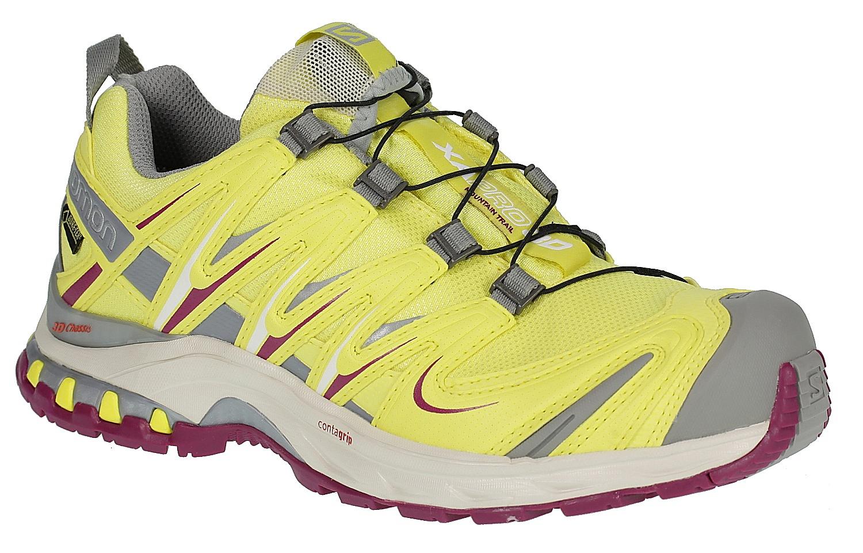shoes Salomon XA Pro 3D GTX W - Citrus-X Light Gray Mystic Purple -  Snowboard shop 9dce4b57154