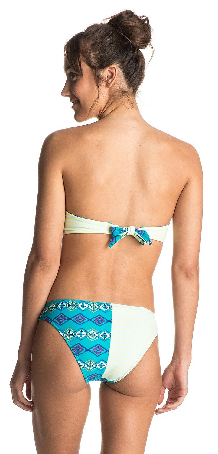 4377a034e6 ... plavky Roxy Reversible Bandeau Scooter - BNY6 Geo Ethnic Combo Dark Jade  ...