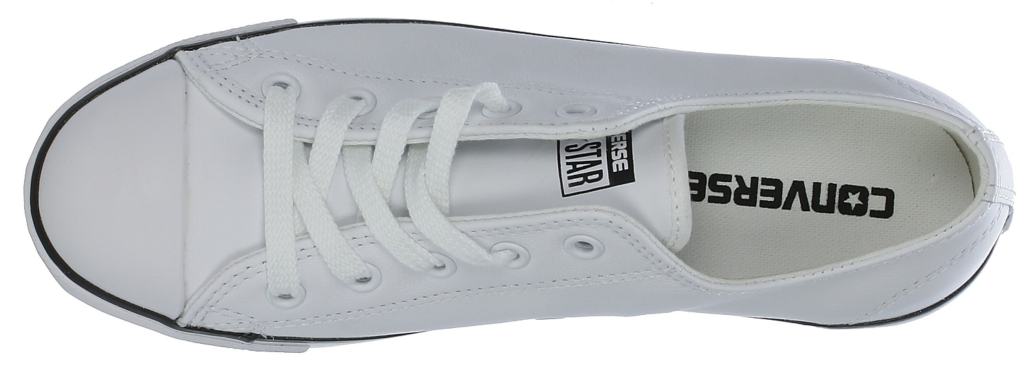 3cd4c539cd65 ... boty Converse Chuck Taylor All Star Dainty Leather OX - 537108 White ...