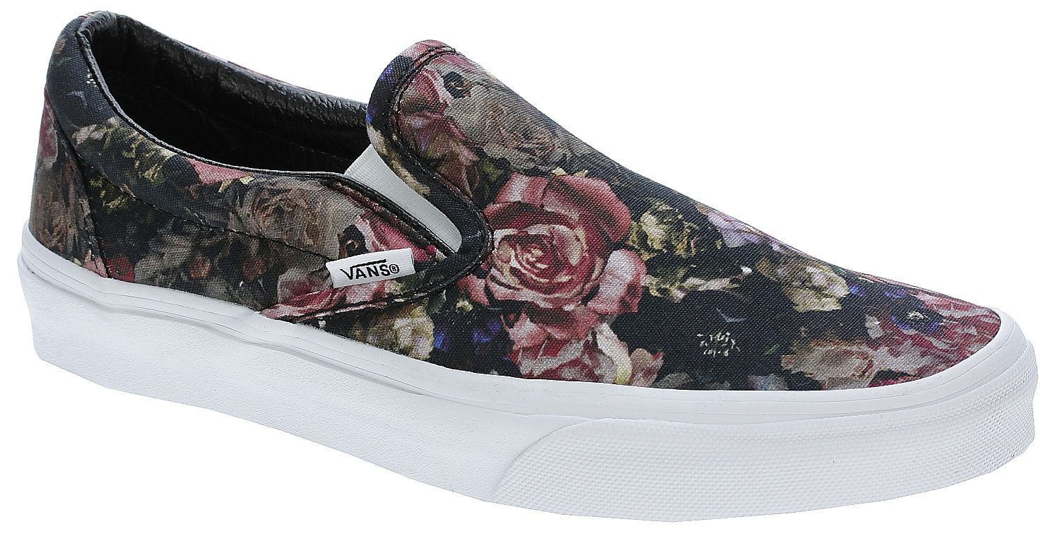 a9687585f5 shoes Vans Classic Slip-On - Moody Floral Black True White - Snowboard  shop