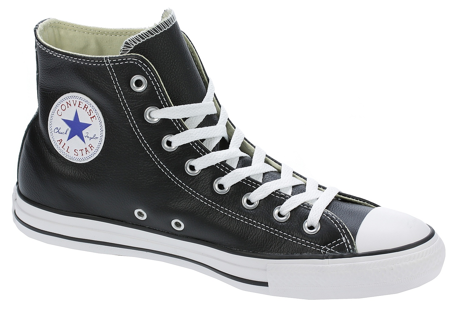 boty Converse Chuck Taylor All Star Leather Hi - 132170/Black 37