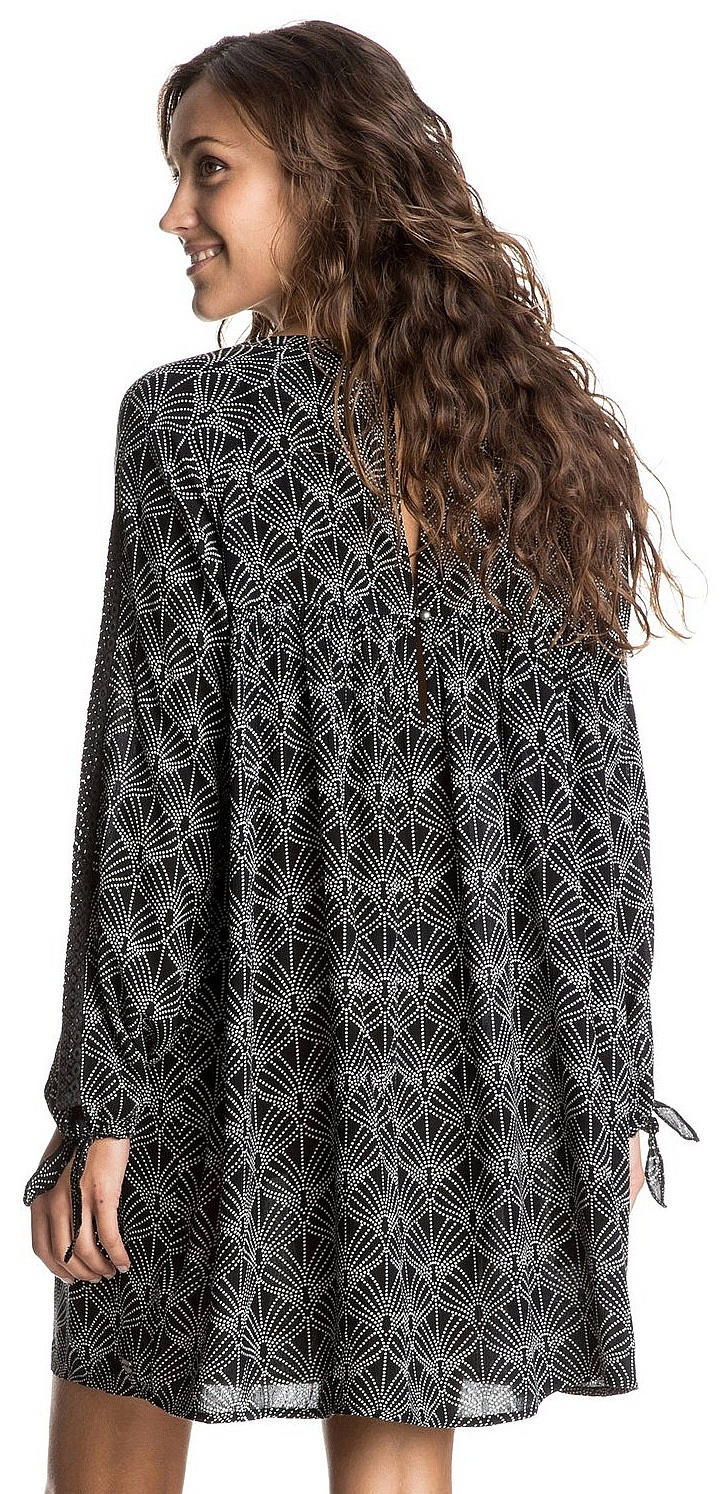 614b99607e07 šaty Roxy Definitely Maybe - KVJ6 In The Breeze True Black ...
