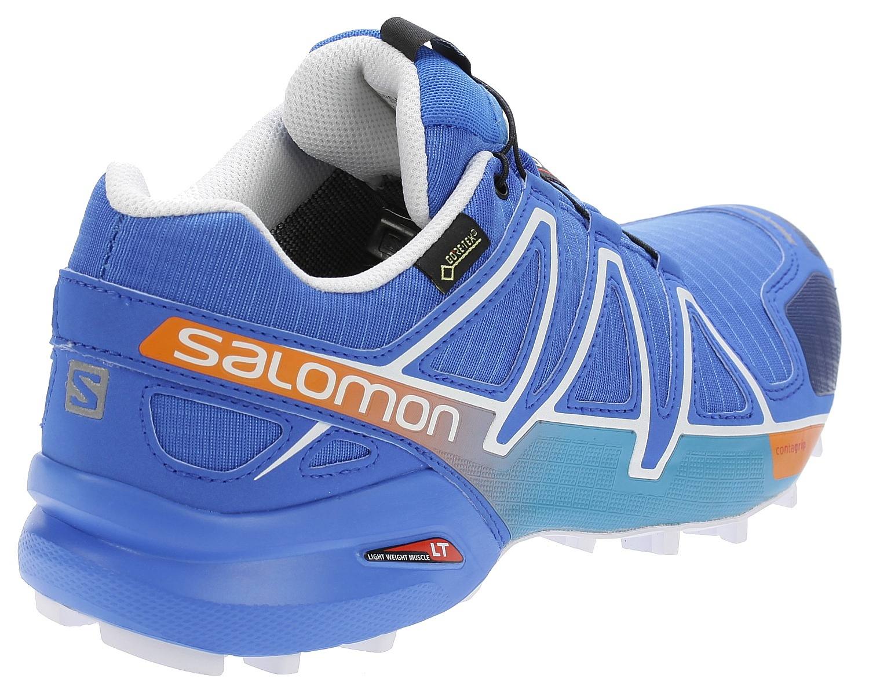 ... shoes Salomon Speedcross 4 GTX - Bright Blue Union Blue White ... 94c1dccf164