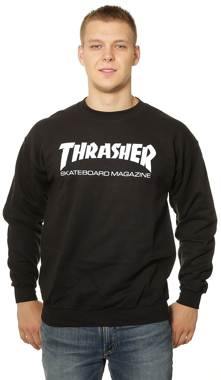 mikina Thrasher Skate Mag Crew - Black