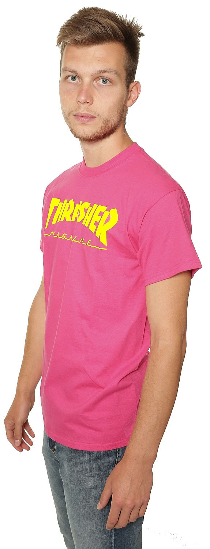 613e73914c4 T-Shirt Thrasher Magazine Logo - Pink - Snowboard shop