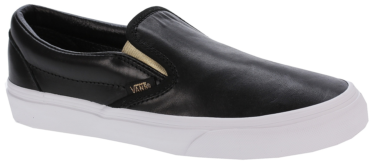 37b6c5cd5b2fa8 shoes Vans Classic Slip-On - Metallic Gore Black Gold - Snowboard shop