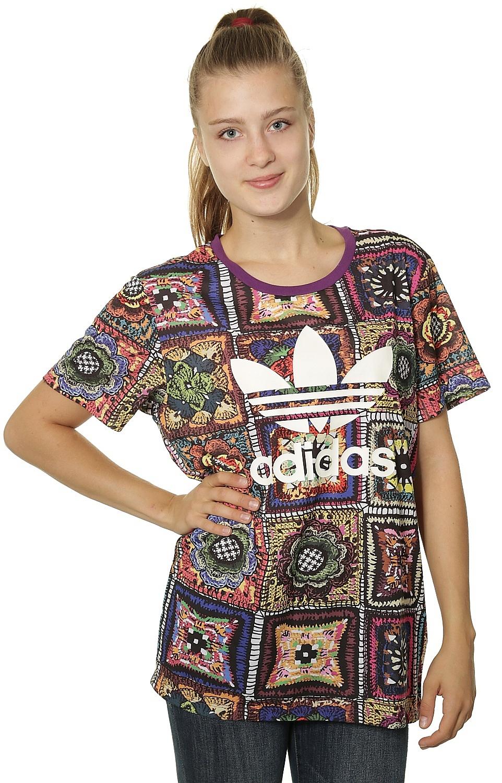 60% barato lujo detallado T-Shirt adidas Originals Crochita - Multicolor - Snowboard shop ...