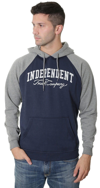 mikina Independent Letterman Hood - Dark Heather Indigo - Snowboard shop 129d6311579