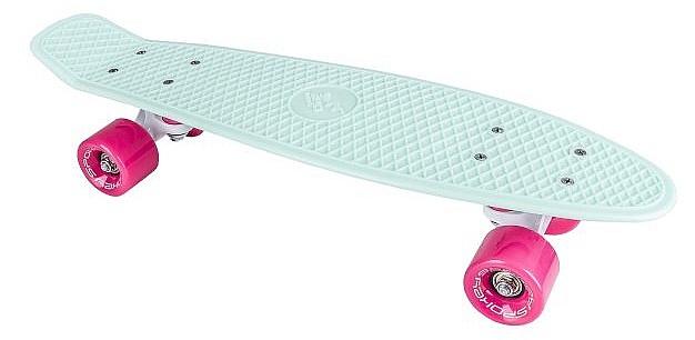 longboard Spokey Cruiser Penyboard - K838895 Green Pink 6x22 3870a0129e5