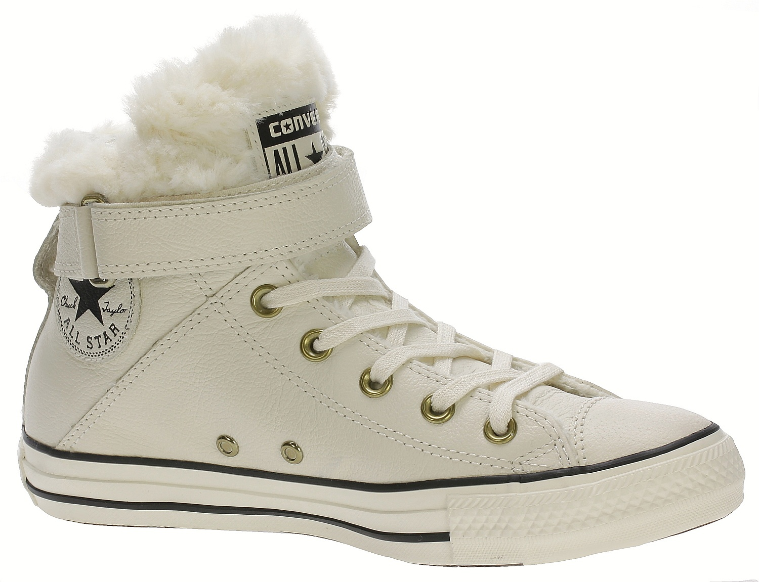 e97938723ee boty Converse Chuck Taylor All Star Brea Leather Hi - 553396 Parchment Black  - Snowboard shop