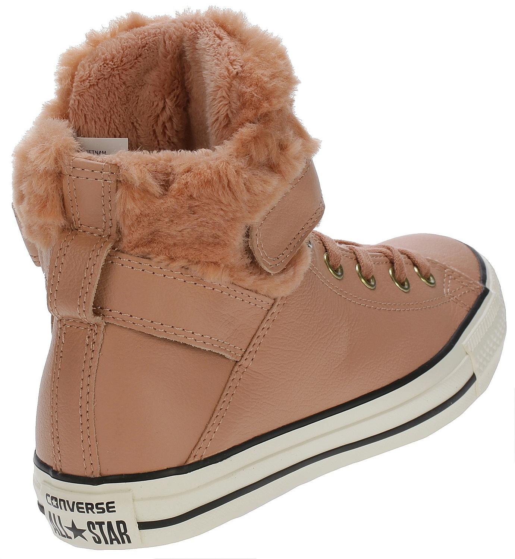 1ac556d6dbcff1 ... boty Converse Chuck Taylor All Star Brea Leather Hi - 553397 Pink Blush Black  ...