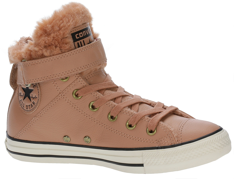 ea5bcbae18b1d9 boty Converse Chuck Taylor All Star Brea Leather Hi - 553397 Pink Blush Black  - Snowboard shop