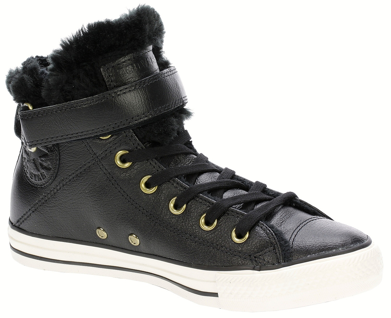 5ec3b4db746f boty Converse Chuck Taylor All Star Brea Leather Hi -  553394 Black Black Egret - Snowboard shop