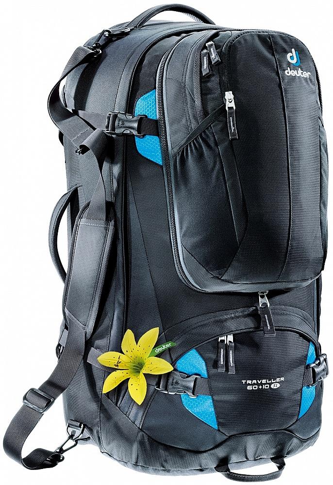 67e0589b2c batoh Deuter Traveller 60+10 SL - Black Turquoise 85 L