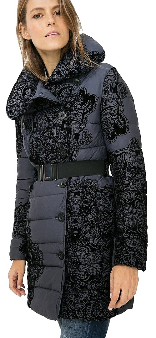 526bfffe9 coat Desigual 67E29J5/Veronica - 5000/Navy - Snowboard shop, skateshop -  snowboard-online.eu