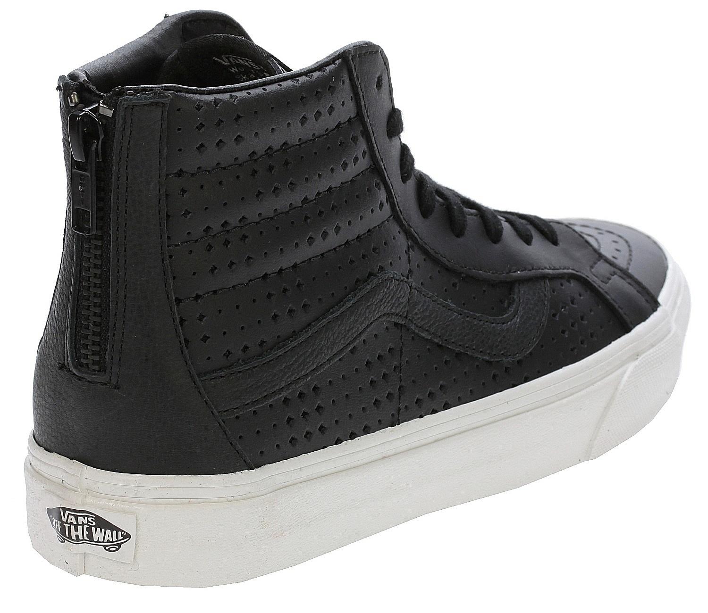 e5dc99545a2a56 shoes Vans Sk8-Hi Reissue Zip - Leather Perf Black - Snowboard shop ...