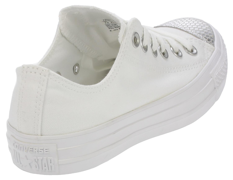 a6d884bd5fe7 ... shoes Converse Chuck Taylor All Star Metallic Toecap OX - 555816 White  Silver  ...