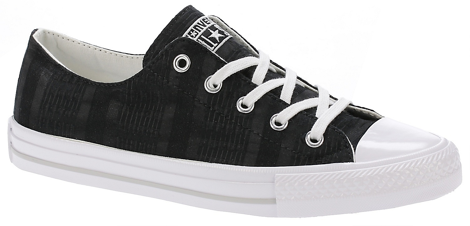 2ee4c751e80 boty Converse Chuck Taylor All Star Gemma Engineered Lace OX - 555843  Black White