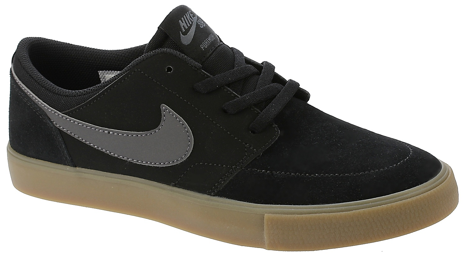 dziecięce buty Nike SB Portmore II GS - Black Dark Gray Gum Light Brown ... 9134caccbf4fc