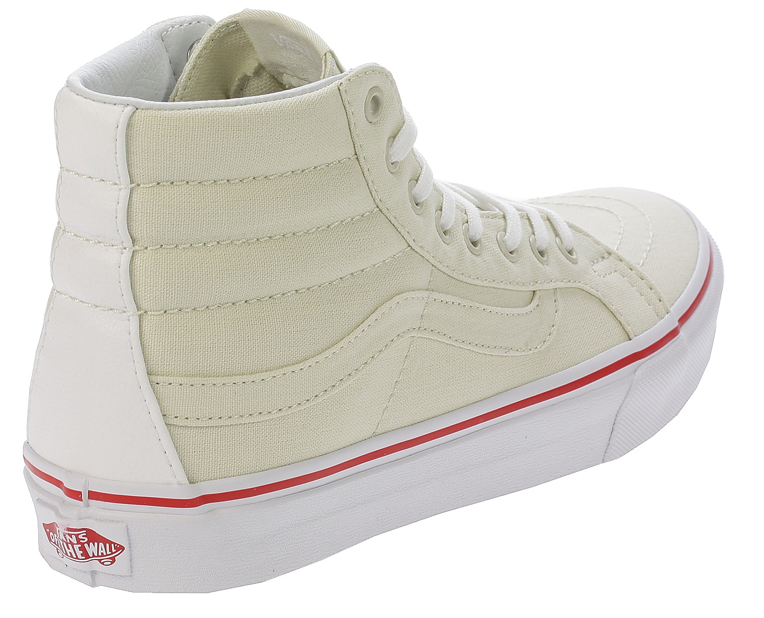 fbdb7fe7e7 shoes Vans Sk8-Hi Slim - Leather Canvas Bone True White - Snowboard ...