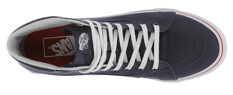 7d7e47aab6d ... shoes Vans Sk8-Hi Slim - Leather Canvas Parisian Night True White ...