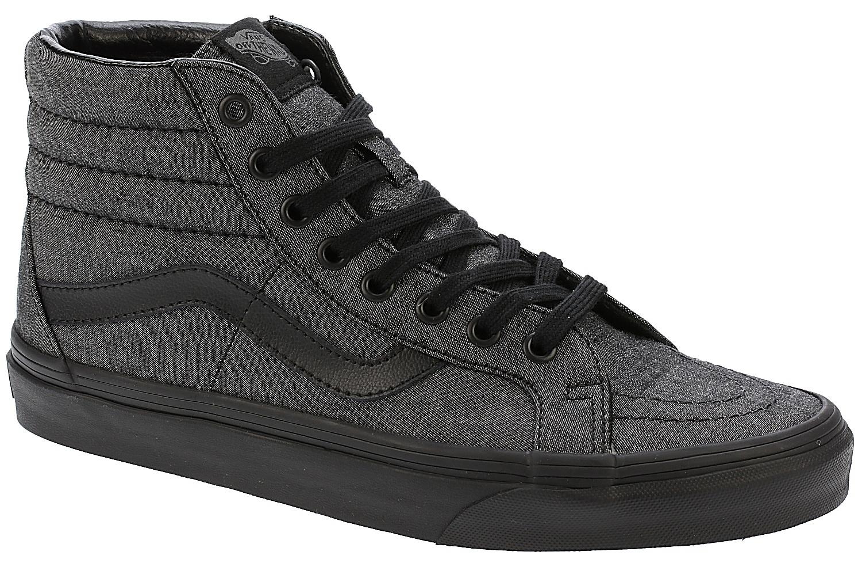 8ed5894443 shoes Vans Sk8-Hi Reissue - Mono Chambray Black Black - Snowboard ...