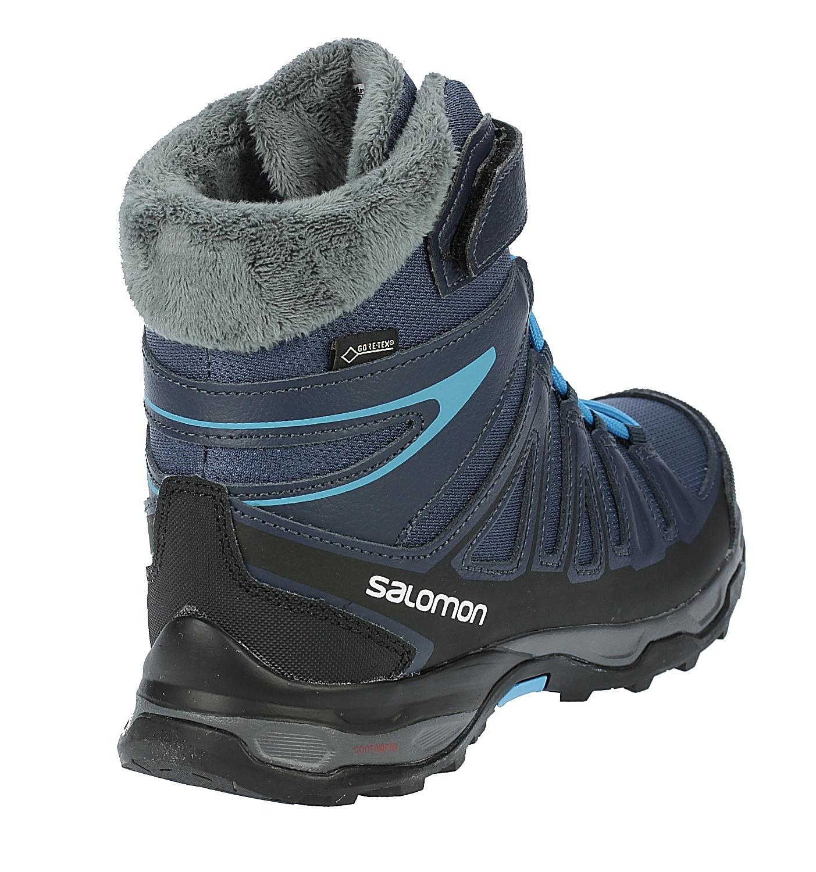 ... detské topánky Salomon X-Ultra Winter GTX J - Slateblue Deep Blue Scuba  ... 3b129e1280f
