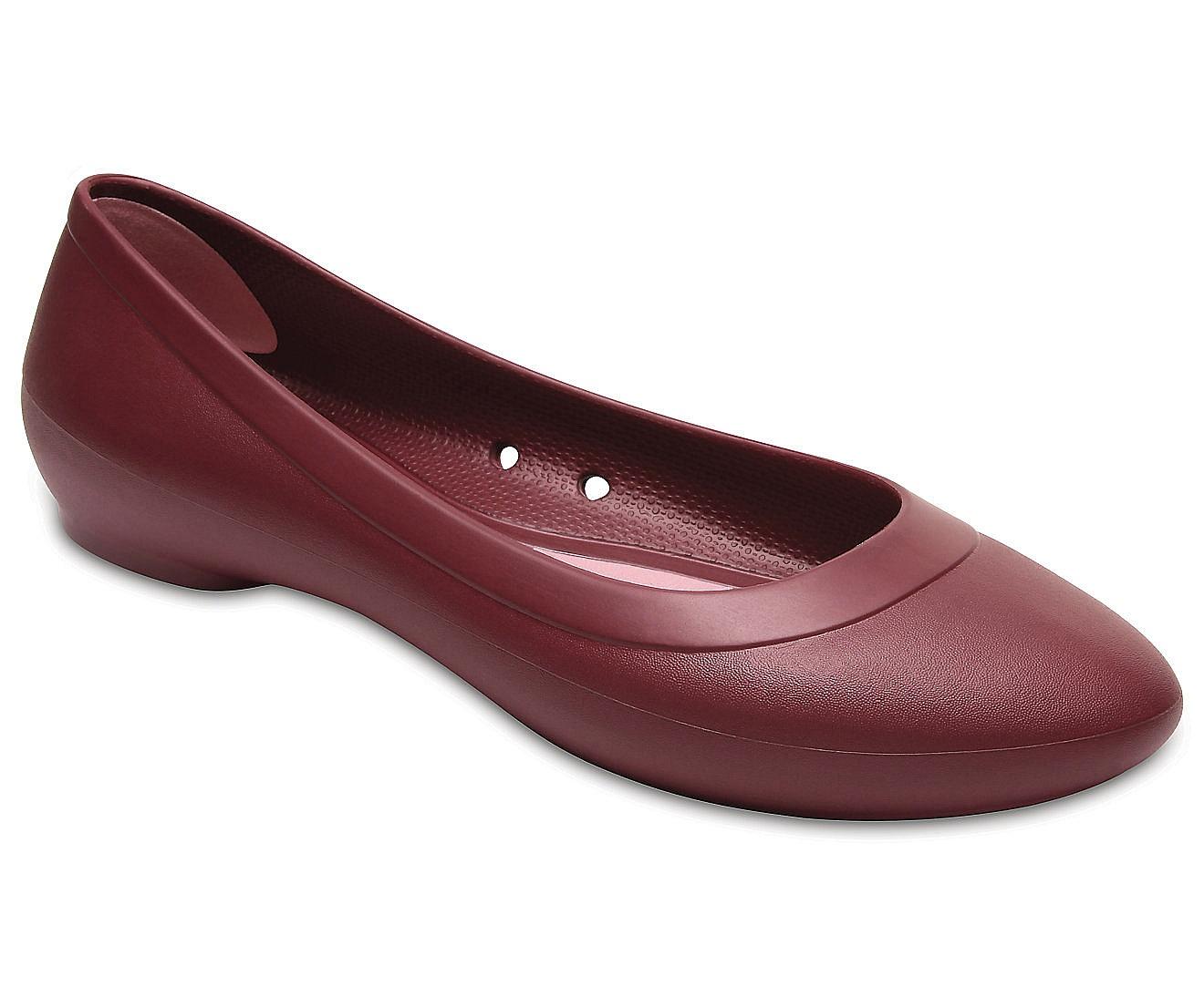 ec5598233408 boty Crocs Lina Flat - Garnet 36 37
