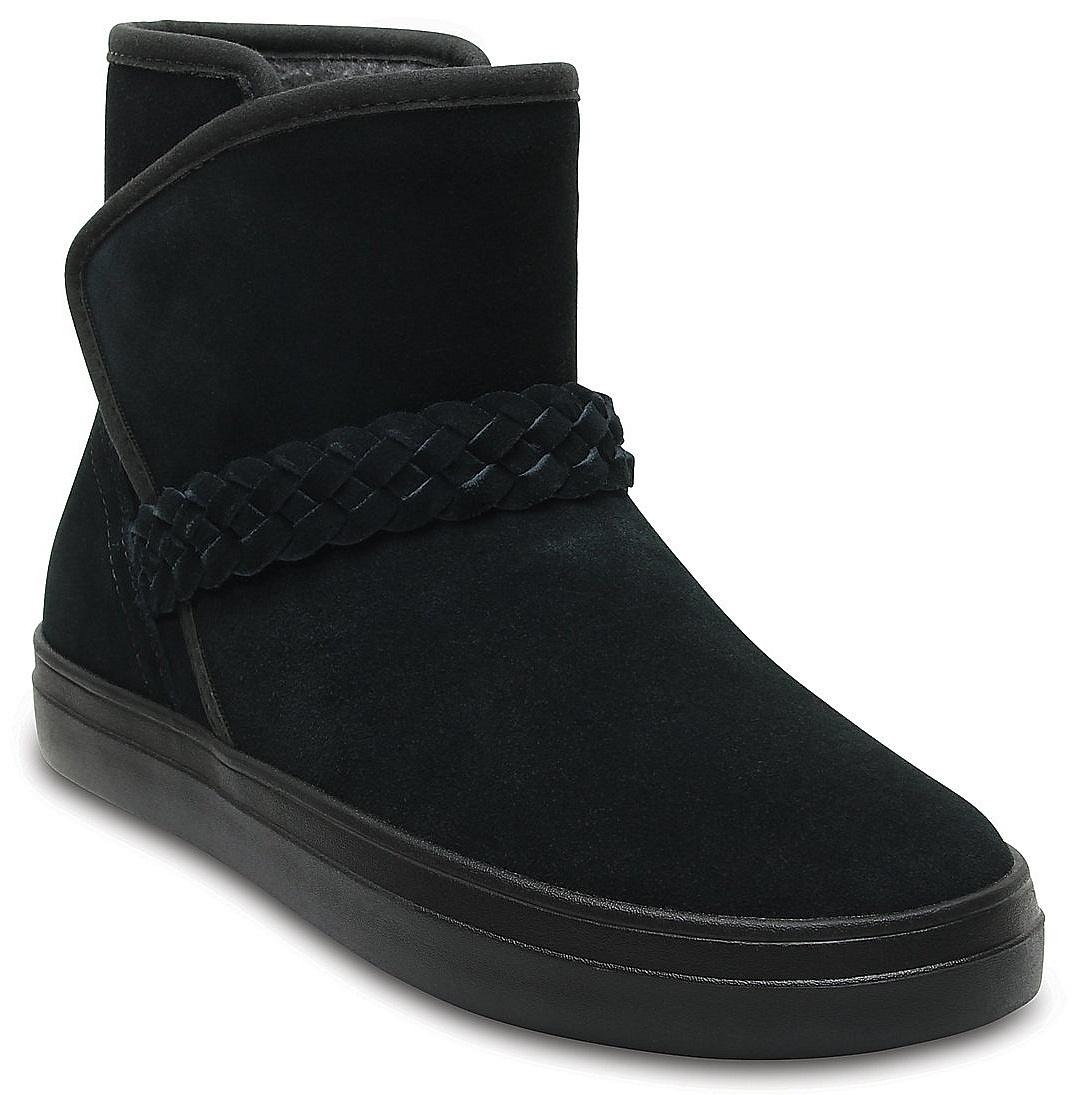 d3e032408d8 boty Crocs Lodgepoint Suede Bootie - Black 34 35